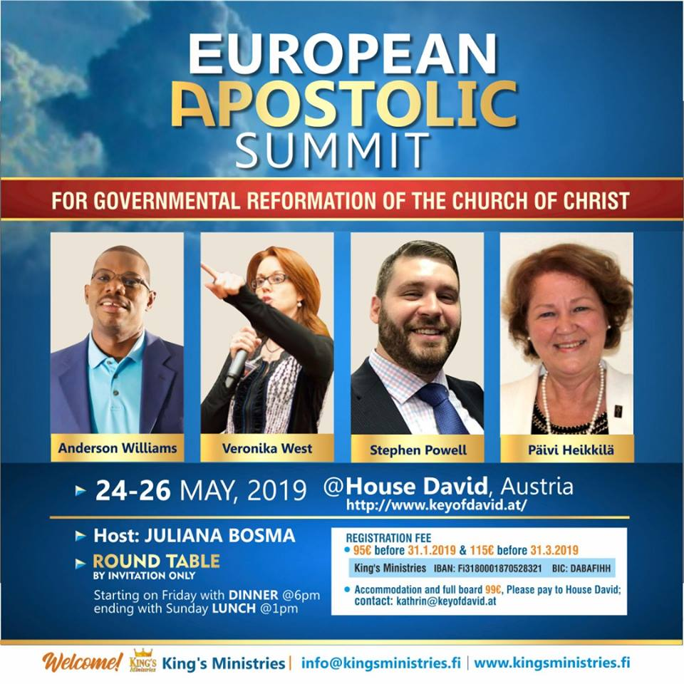 EUROPEAN APOSTOLIC SUMMIT May 2019