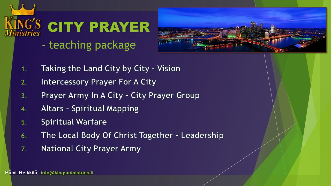 CITY PRAYER Teaching Package (in English)